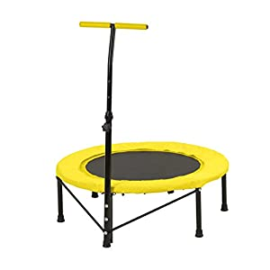 VITALmaxx Fitness-Trampolin | Mini Indoor Trampolin für Zuhause | Ganz Körper Fitness Gerät zum abnehmen | Gelb, Schwarz