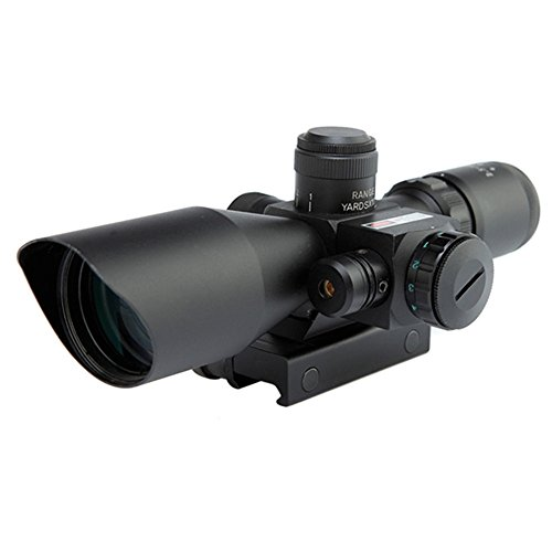 Minidiva Tactical Rifle 2.5 10x40 Portée Red & Green Mil-point lumineux rouge Mont Laser