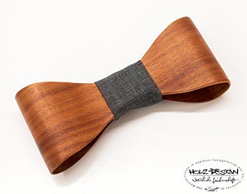 3D Holzfliege Bentwood Holz Fliege Hochzeit Holzfliege aus Macore Holz handgemacht Geschenk für Hochzeit Querbinder Bräutigam Hölzerne Herren & Damen Fliege Business Look gebogenes Holz