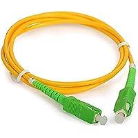 HWM Câble/Rallonge Fibre Optique-Orange SFR Bouygues-Jarretière Simplex Monomode SC-APC à SC-APC-Blindage et Connecteur…