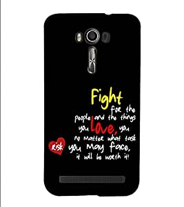 Fuson Designer Back Case Cover for Asus Zenfone 2 Laser ZE500KL (5 Inches) (Fight for the people and)
