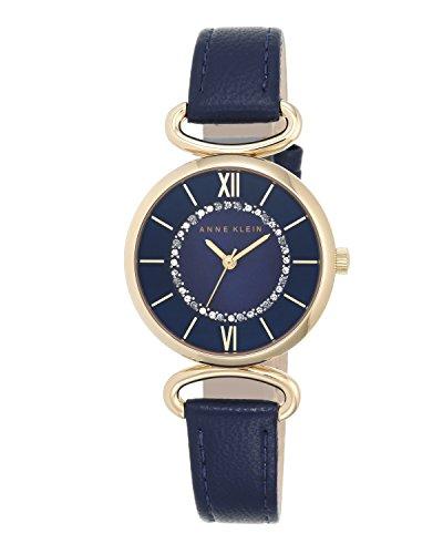 anne-klein-femme-montre-a-quartz-avec-cadran-bleu-affichage-analogique-et-bracelet-en-cuir-bleu-mari