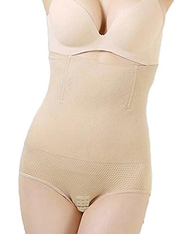 DODOING Damen Miederhose Comfort Sensation mit Bauch-weg-Effekt Hoher Figurformender Miederslip Shapewear Damen Bauch Weg mit Haken