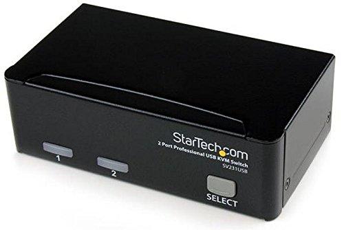 StarTech.com 2 Port VGA USB KVM Switch - VGA KVM Umschalter inkl. Kabel