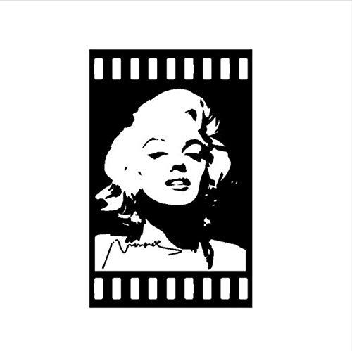Olivialulu Marilyn Monroe Wandtattoos Vinyl Aufkleber Room Decor Star Poster Kunstwand Raumdekoration 60 * 35 Cm (Star Der Poster Woche)