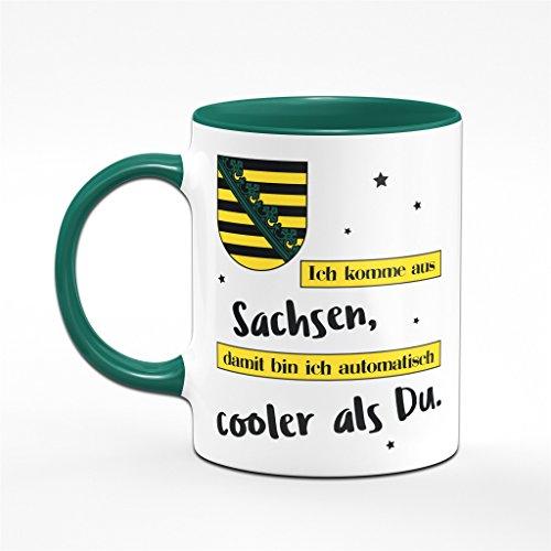 Tasse Ich komme aus Sachsen, damit bin ich automatisch cooler als Du - Kaffeetasse für Sachsen - Ossis - 2