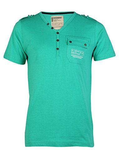 Dissident Herren Fender Kurzärmlig T-Shirt Grün