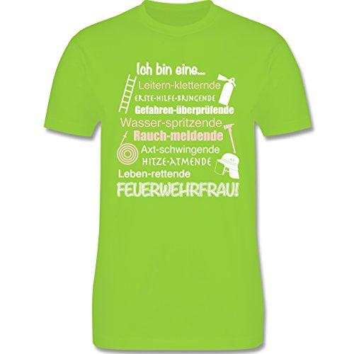 Feuerwehr - Ich bin eine ... Feuerwehrfrau! - Herren Premium T-Shirt Hellgrün