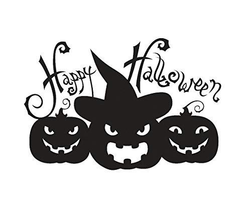 Halloween rimovibile vinile zucche adesivi murali adesivi per vetrofanie adesivi per finestre decorazioni di halloween per salotti nursery halloween party
