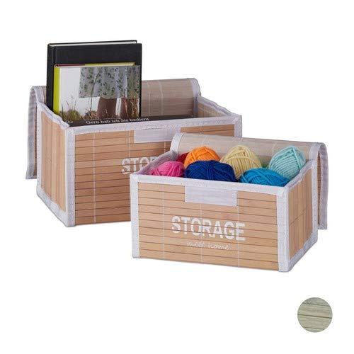 Relaxdays Set de 2 Cajas de almacenaje, Baúl Vintage para...