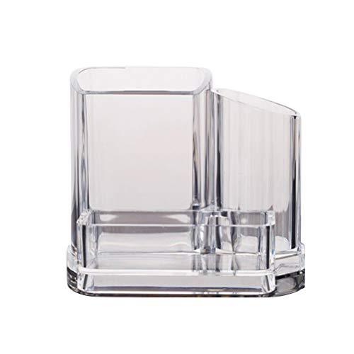 Zähler Veranstalter (Lurrose Kristall Make-up Pinsel Halter klar Kosmetik Zähler Veranstalter Desktop Mehrzweck-Vorratsbehälter für Schmuck Make-up-Tool)