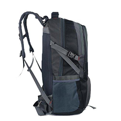 Outdoor zaino sport, grande sacchetto di alpinismo capienza, borsa a tracolla impermeabile, la corsa esterna zaino, viaggi di piacere zaino 80L, sacchetto dell'allievo, borsa del computer, il sacchett black
