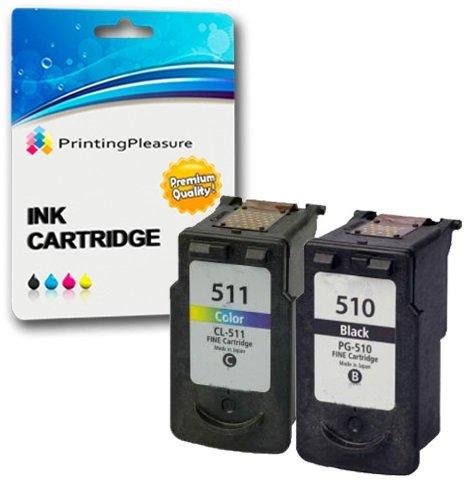 Preisvergleich Produktbild 2 Druckerpatronen für Canon Pixma iP2700, iP2702, MP230, MP235, MP240, MP250, MP252, MP260, MP270, MP272, MP280, MP282, MP480, MP490, MP492, MP495, MP499, MX320, MX330, MX340, MX350, MX360, MX410, MX420 | kompatibel zu PG-510 (PG510), CL-511 (CL511)