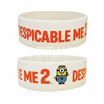Official Wristband DESPICABLE ME 2 White Minions Logo 2D MINION Gift