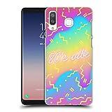 Head Case Designs Die 80er Jahre Vibe Lebhafte Farbensteigungen Ruckseite Hülle für Samsung Galaxy A8 / A9 Star
