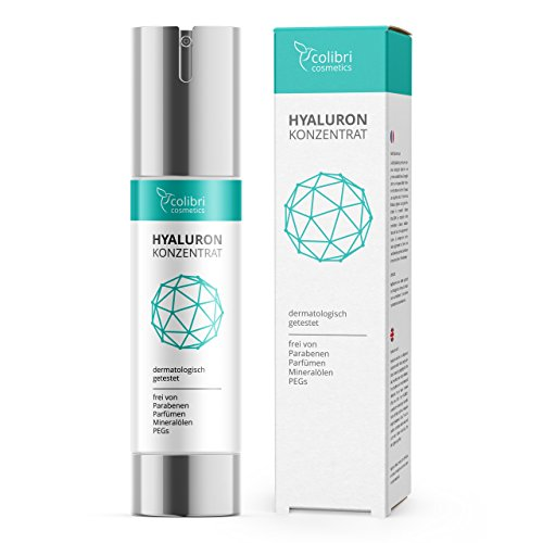 Hyaluronsäure Konzentrat Gel - hochdosiertes Hyaluron Anti-Aging Serum - 50 ml von colibri cosmetics/Naturkosmetik Made in Germany