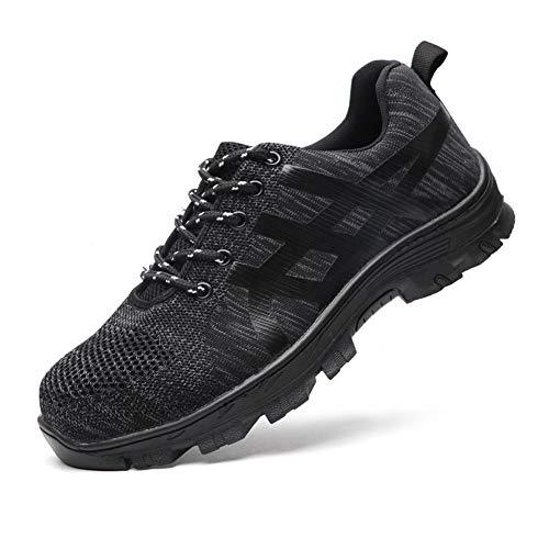 Scarpe Antinfortunistiche Uomo Donna con Punta in Acciaio Sneaker da Lavoro Leggere ed Eleganti black49