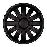 Autoteppich Stylers 15 Zoll Radkappen AGAT Schwarz matt (Farbe und Größe wählbar!)