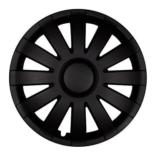 Autoteppich Stylers 14 Zoll Radkappen AGAT Schwarz matt (Farbe und Größe wählbar!) - Sicher Styler
