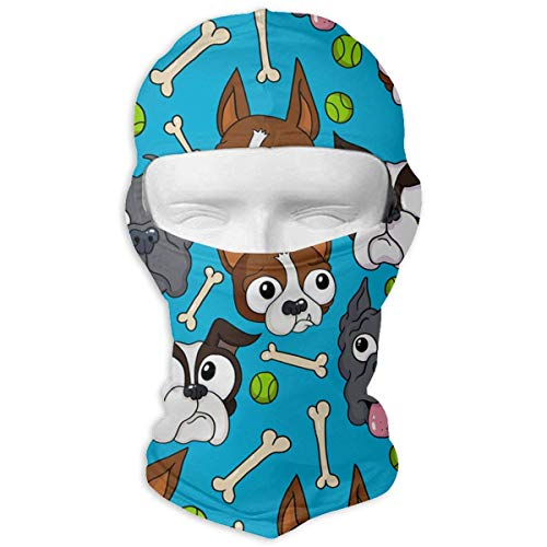 Doggies Bone Ball Pattern Windproof Dust Protection Balaclava Full Face Mask Hood Headcover