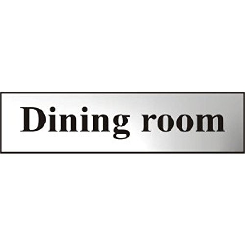 metal-self-adhesive-sign-dining-room-silver-with-black-text-200mm-x-50mm