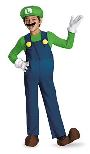 Disguise Super Mario Boys Deluxe Costume 10-12 by Super Mario Brothers (Super Mario Child Deluxe Kostüm)