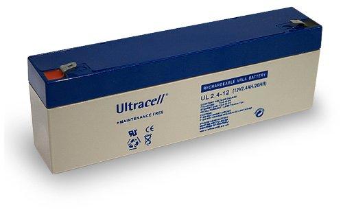 Wentronic Blei-Akku (Ultracell) 12 V, 2,4 Ah (Faston 187-4,8mm)