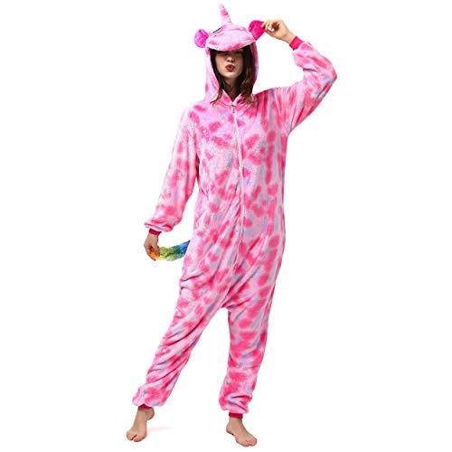 Katara- Kigurumi (10+ Modelos) Pijamas Animales Halloween Adultos, Color Unicornio Rosa Oscuro, Talla 175-185cm (1744)