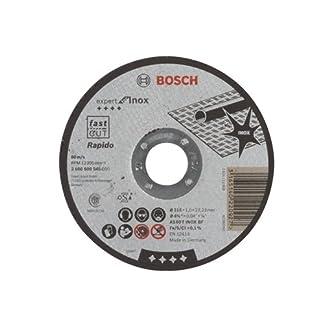 Bosch 2 608 600 545 – Disco de corte recto Expert for Inox – Rapido – AS 60 T INOX BF, 115 mm, 1,0 mm (pack de 1)