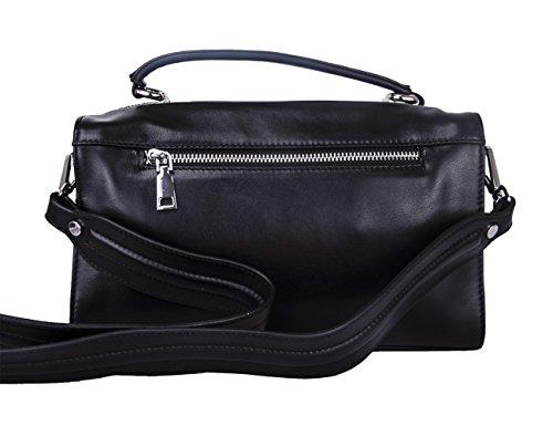 Borsa Donna Bianca Tracolla in Vera Pelle Borse Spalla Cuoio Piccola a Mano Elegante Bag per Ragazze V