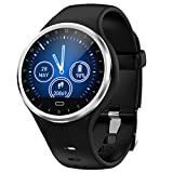 Glowjoy Bluetooth Smartwatch Fitness Uhr Intelligente Armbanduhr,Fitness Tracker Smart Watch Sport Uhr Herzfrequenz Schlafmonitor Vibrationsalarm SMS Beachten für Frauen Herren (Schwarz)