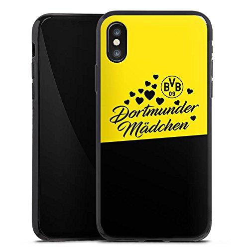 Apple iPhone 6 Plus Hülle Case Handyhülle BVB Borussia Dortmund Dortmunder Mädel Silikon Case schwarz