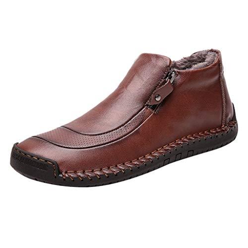 MISSQQScarpe Casual da Uomo Mocassini in Pelle Loafers Casuale Guida Moda Mocassino Basse Classic Scarpe da Cuoio Barca Oxford