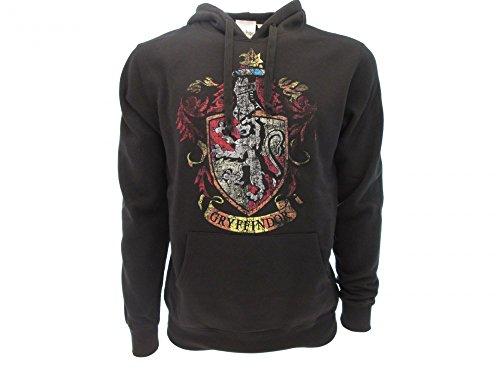 Harry Potter Kapuzenpulli Hoodie Sweatshirt Gryffindor Haus Waffen - 100% Offiziell Warner BROS (M Medium)