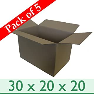 5 x Large Sturdy Home Removal Moving Cardboard Boxes - Double Wall - 30