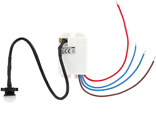 2er Pack – Mini Einbau IR Bewegungsmelder 360 Grad 230V – LED geeignet - 2