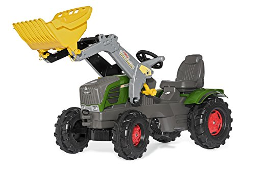 Fendt Trettraktor Rolly Toys 611058 Traktor Farmtrac Fendt 211 Vario inklusive Frontlader Trac Lader, mit Kettenantrieb, Flüsterreifen, verstellbarer Sitz (für Kinder ab 3 Jahren, TÜV/GS geprüft,Farbe  Grün)