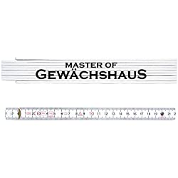 ZOLLSTOCK Metermaß Maßstab MASTER OF GEWÄCHSHAUS Geschenk Gärtner Florist
