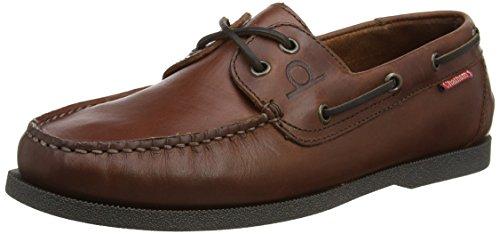 Chatham Barco Homens Galley Sapatos Marrons (marrom Escuro)