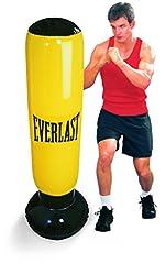 Idea Regalo - Everlast, Sacco da Boxe Gonfiabile da Terra, Nero (Black), 0
