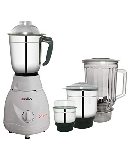 ACTIVA Pluto PRO Plus 650 WATTS 4 JAR Full ABS Body Mixer Grinder_(White)