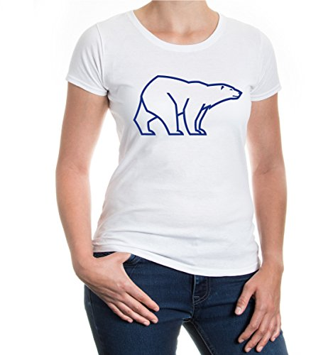 buXsbaum® Girlie T-Shirt Ursus Maritimus White-Royal