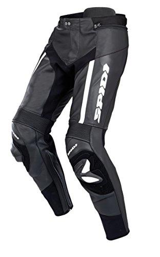SPIDI - Pantaloni da Moto in Pelle RR PRO, Nero/Bianco, 52