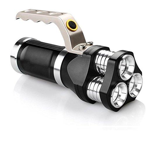 LED Taschenlampe,Wiederaufladbare LED Suchscheinwerfer taktische Taschenlampe 3T6 Spotlight 9000 Lumen
