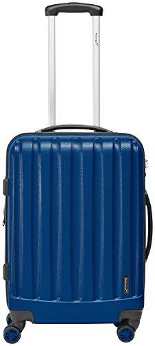 Packenger Handgepäckkoffer Bordcase 'Velvet' M in Silber / ABS / 52x35x23cm, 37 Liter, 3Kg / Zwillingsrollen (360°) / Koffer mit TSA Zahlenschloss / stabiler...