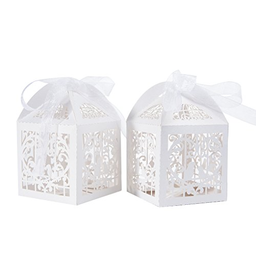 50pcs Wedding Party Favour Boxesbenbilry Sweet Candy Boxes With 50
