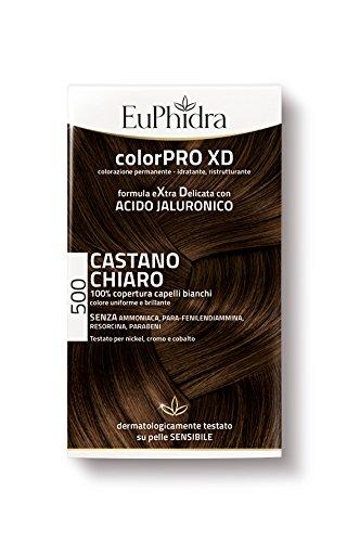 Euphidra Tinta Color Pro XD 500 Colorazione Permanente senza ammoniaca CASTANO CHIARO