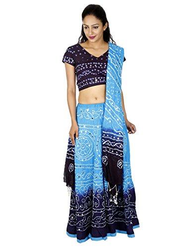 Ethnische Wear Pailletten Arbeit Baumwolle ethnische Türkis Lange Lehenga von Rajrang (Amazon Indian Girl Kostüm)