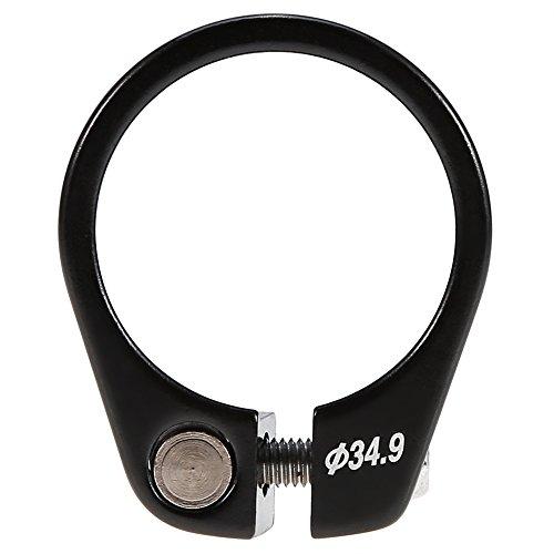 Fahrrad Sattelklemme Schnellverschluss Sattelstütze Klemme Aluminiumlegierung Passend für 30,4 / 30,8 / 31,6mm Sattelstange ( Farbe : Schwarz ) -