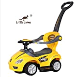 Little Chime Ride on 3 in 1 Deluxe Mega Yellow Plastic Push Swing